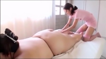Japanese people BBW's Attractive Massage session