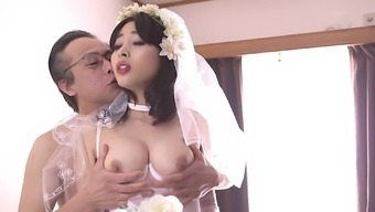 First marriage ceremony night by using Mao Hamasaki in stockings gets mean