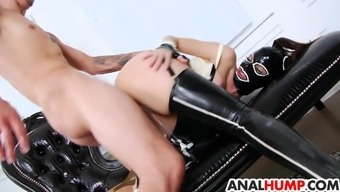 Thing rectum love-making with the use of creme from Dana DeArmond anus