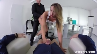 Perverted fellows never mind revealing a blonde's luke-warm clit