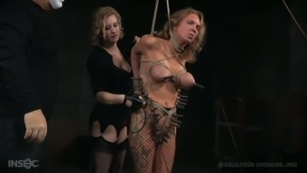 Horny buxom Rain DeGrey realize something that about bust servitude