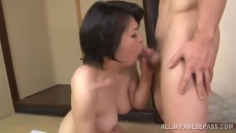 A mature female from Japan normally takes complicated pussy thumping