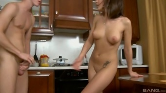 Skinny Madelan likes to consider that penis into her much tighter gap
