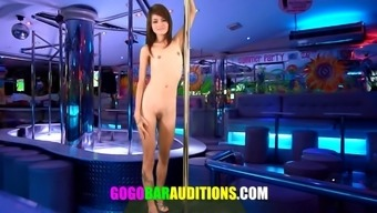 Slender Oriental date auditions to actually be gogo performer