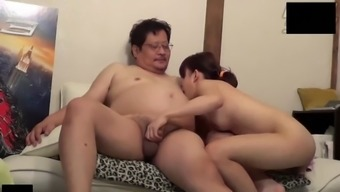 cute oriental young adult accompany uncensored sexual intercourse by using old bloke