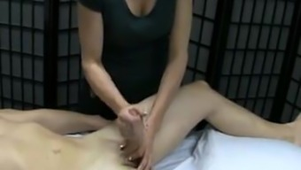 Massage therapy with the use of pleased ending...