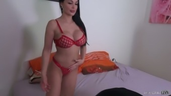 Impressive big tits Aletta Sea is made for being intimate with strong large cock
