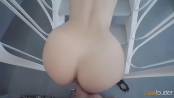 youthful mexican twerker melody short seduces dork back with her leaping butt