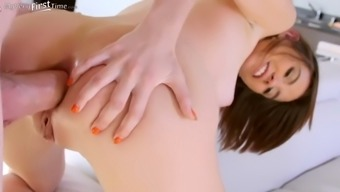 young cece capella does a great job for her first anal scene