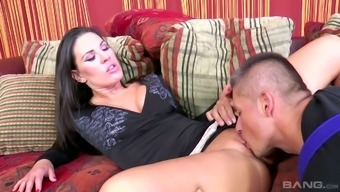 Great temptress Athina Love skills sex with workmen for residence restores