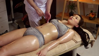 Warm Japanese people milf upon the massage therapy tables for little finger fucking