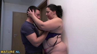 Excess weight and hot grow older gets fucked complicated by a youthful bloke