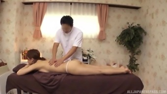 Japanese kind through use of an arousing whole body gets an exotic rubdown