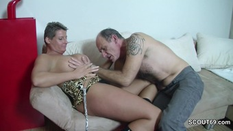Attractive German Grandpa Hook Teenager to effectively Fuck by using Him