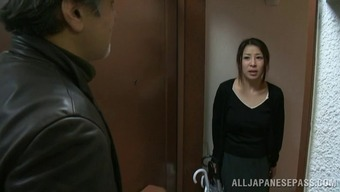 Frisky from asia grow older homemaker gets fucked by a horny and wilderness criminal
