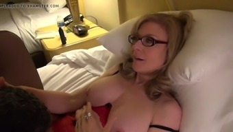 Nina Hartley illustrates clit touching driving old dude's have to face