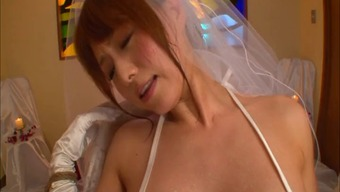 Japanese people future bride in panties cherished along with big dongs serious