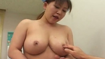 Busty Japanese people healthcare provider informs her individual to have sex together