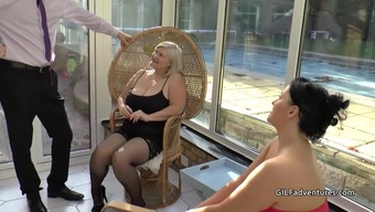 Mens stripper gets blessed with granny and mature