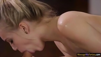 Tiny black infant Alex Grey sucks off and nailed by masseur