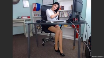 Lovely date with her business office