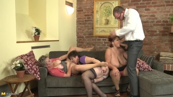 Match stud in the business world clothing gets bare to really fuck 3 (three) old chicks
