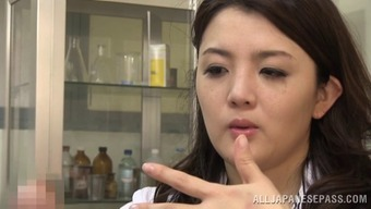 Arousing Japanese doctor rapidly falls crazy about the erected penile organ