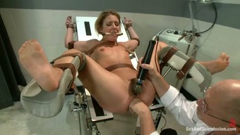 Imprisoned black gets tied up and fucked by the doctor