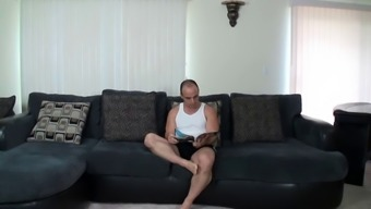 Perverted step-father fantasizing about fucking his sizzling step-daughter