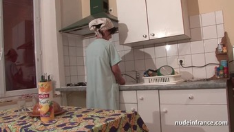 French mom seduces youthful guy together booty