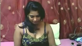 Suggestive guffawing novice Indian blonde MILF flashes her big butt and tits