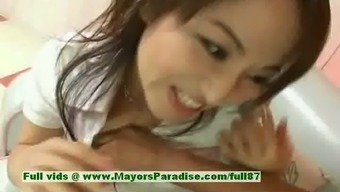 Miina friendly kinky chinese girl gets pussy licked