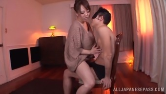 Great intercourse act along with huge-breasted Japanese people milf