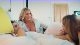 Mommy used her offspring brilliant girl friend for sexual intercourse
