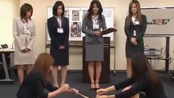 Two japanese girls stripping in groupsex