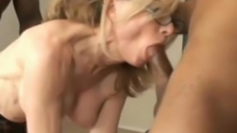 Hooker Nina Hartley gets mutual by Rico Solid and Ethan Quest