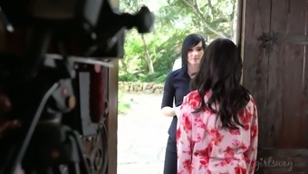 Naked infant Shyla Jennings gives and meet after heated lesbian market