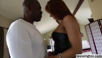 Plus size damsel Sophia Fiore expertly has a dark colored cock