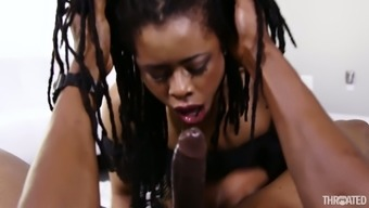 Dark colored hunk along with a huge stick fucks have to deal with of ebony moaner Kira Noir