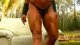 Denise Masino - Distinctive Muscle tissues Images curb! Girl Body builder