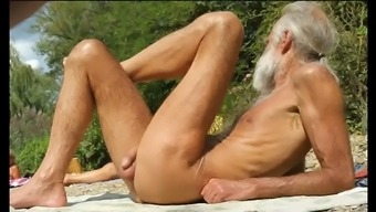 Nudist grand father at the beach - 4(four)