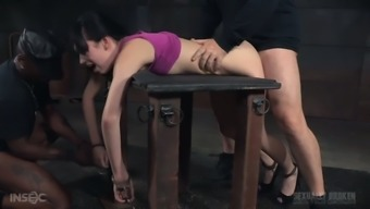 Moaning docile girl Aria Alexander needs to understand how BDSM functions