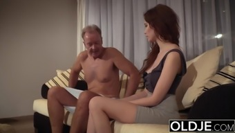 Old Young Adult porn Naturally-occuring Young adult Takes Grand father penis In their pussy
