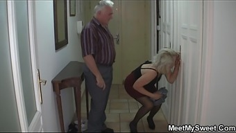 Old number of seduce brown young adult into cock riding