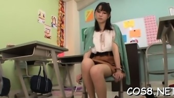 Deprived japanese teen gets the entire stick in vaginal canal during cosplay