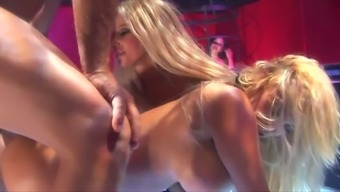 Sizzling party hooker Gina Lynn is taking pleasure in several wild environment fuck appointment among the clubhouse