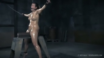 Oiled up submissive spot Penny Hair dresser had complicated principal BDSM site