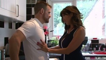 Fucking warm milf Alessa Savage found her panties in stepson's purse