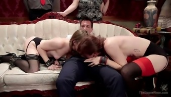 Slutty Alice March licks pussy and gets fucked in public