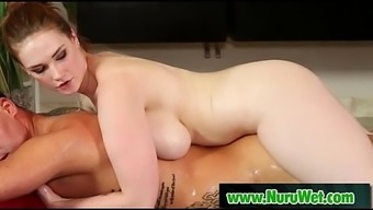 Fascinating jappanese masseuse gives sexy nuru massage 12
